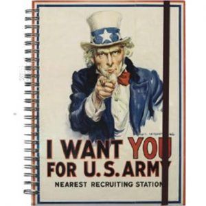 IWM08US US Army A5 Spiral NotebookW